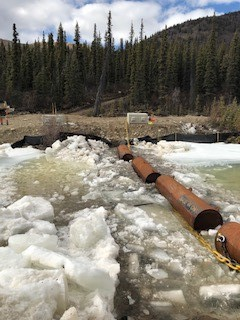 North Fork Rose Creek Ice Boom and Turbidity Barrier Installation